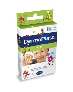 Hartmann Dermaplast Kids 16 x 57 mm 10 pcs/19 x 72 mm 10 pcs