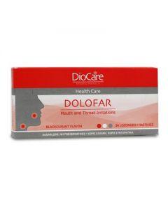 DioCare Dolofar 24 lozenges blackcurrant flavor