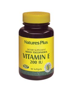 Nature's Plus Vitamin E 200 IU mixed Tocopherol 90 softgels