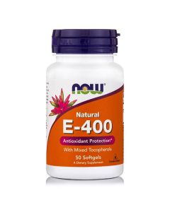 Now Vitamin E 400 IU mixed tocopherols 50 softgels