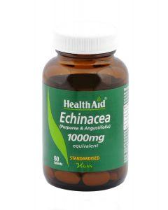 Health Aid Echinacea Purpurea/Angustifolia 1000mg - Standardised 60 tabs