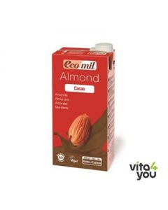 Ecomil Almond milk with agave & cocoa 1 lt