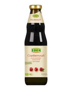 Eden Χυμός Cranberry χωρίς ζάχαρη 750 ml
