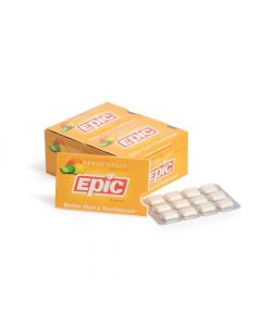 Epic Xylitol Gum sugar-free Fresh Fruit 12 pieces