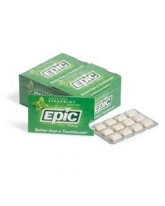 Epic Xylitol Gum sugar-free Spearmint 12 pieces