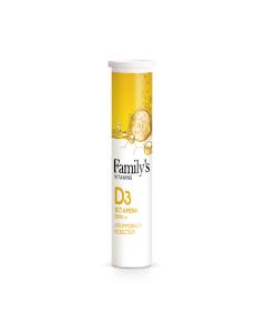 Family's Vitamins Vitamin D3 2000 IU 20 eff tabs