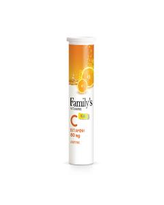 Family's Vitamins Kids Vitamin C 80 mg 20 eff tabs