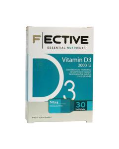 F Ective Vitamin D3 2000 IU 30 softgels