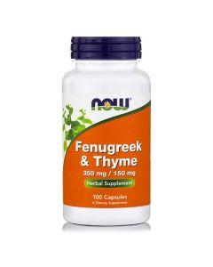 Now Fenugreek/Thyme 350/150 mg 100 caps