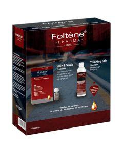 Foltene Hair & Scalp Treatment Μen 12 x 8.3 ml & Thinning Hair Shampoo Men 200 ml