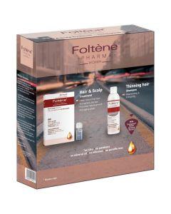Foltene Hair & Scalp Treatment Women 12 x 8.3 ml & Thinning Hair Shampoo Women 200 ml