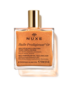 Nuxe Huile Prodigieuse Or Shimmering Multi Purpose Dry Oil Face Body Hair 50 ml