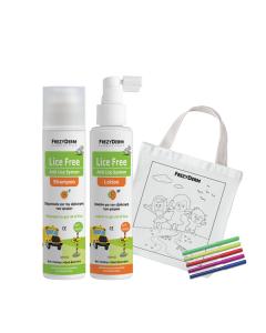Frezyderm Lice Free Set (2 x 125) & Δώρο Υφασμάτινη Τσάντα Ζωγραφικής