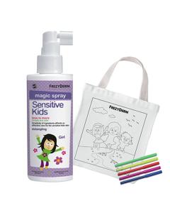 Frezyderm Sensitive Kids Magic Spray Girls 150 ml & Free Fabric Painting Bag