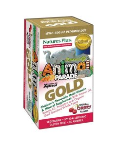 Nature's Plus Animal Parade Gold Cherry flavor 60 animal tabs