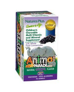 Nature's Plus Animal Parade Grape Flavor 90 animals