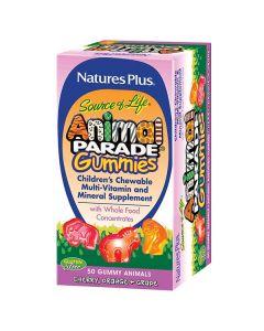 Nature's Plus Animal Parade Gummies 50 gummy animals cherry orange grape