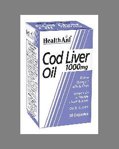 Health Aid Cod liver oil 1000 mg 30 caps