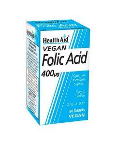 Health Aid Vegan Folic Acid 400 µg 90 tabs