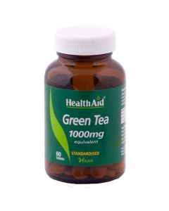 Health Aid Green Tea Extract 1000 mg standardised 60 tabs