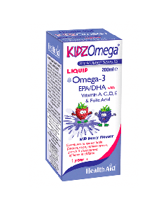 Health Aid Kidz Omega Liquid 200 ml Berry Flavor