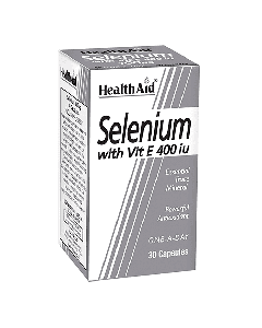 Health Aid Selenium 100μg with Vitamin E 400 IU 30 caps