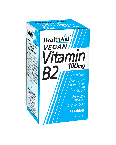 Health Aid Vitamin B2 (Riboflavin) 100 mg prolonged release 60 tabs