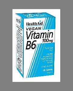Health Aid Vitamin B6 (Pyridoxine HCl) 100 mg 90 tabs