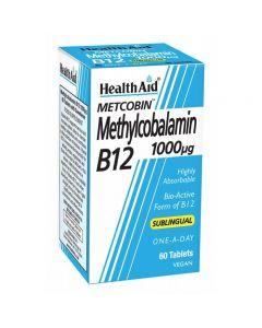 Health Aid Metcobin Methylcobalamin B12 1000 μg 60 sublingual tabs
