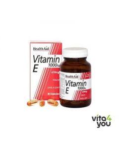 Health Aid Vitamin E 1000 IU Natural 30 caps