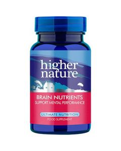 Higher Nature Brain Nutrients Support Mental Performance 90 caps
