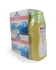 Sinomarin Babies Nose Care 2 x 36 vials x 5 ml & Free Hipp Baby oil 200 ml