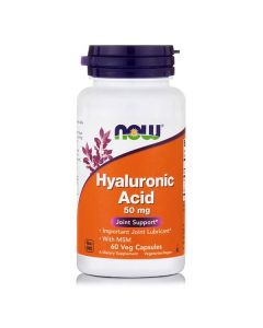 Now Hyaluronic Acid 50 mg w/MSM 450 mg 60 caps