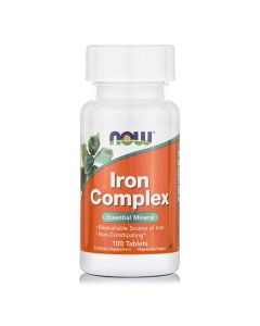 Now Iron Complex Vegetarian plus Folic Acid, B12 100 tabs