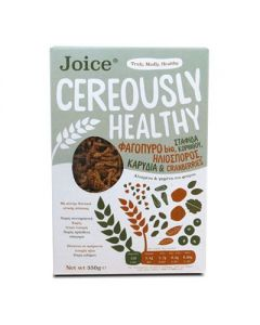 Joice Cereously Healthy Δημητριακά με Φαγόπυρο, Cranberries & Ηλιόσπορους 350 gr