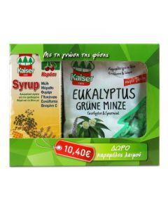 Kaiser Syrup cherry 200 ml & Free Kaiser Eukalyptus Grune Minze caramels 75 gr