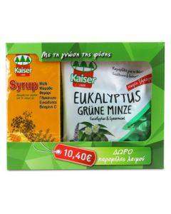 Kaiser Syrup 200 ml & Free Kaiser Eukalyptus Grune Minze caramels 75 gr
