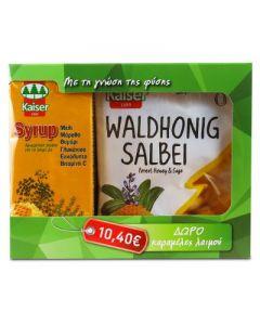 Kaiser Syrup 200 ml & Free Kaiser Waldhonig Salbei Caramels 75 gr