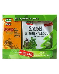 Kaiser Syrup 200 ml & Free Kaiser Salbei Zitronenmelisse caramels 75 gr