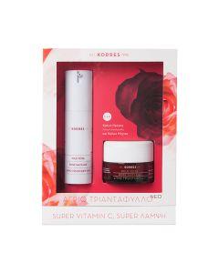 Korres Άγριο Τριαντάφυλλο Κρέμα Ημέρας Ενυδάτωση & Λάμψη λιπαρές 30 ml & Δώρο Κρέμα Νύχτας 40 ml