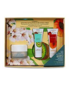 Korres Almond Blossom for normal-dry skin 40 ml & Free Kiwi Scrub 18 ml & Nectarine Mask 18 ml