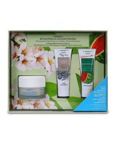 Korres Almond Blossom for Oily to Combination Skin 40 ml & Free Watermelon Mask 18 ml & Natural Clay Mask 18 ml