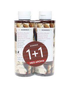 Korres Αμύγδαλο Κεράσι Αφρόλουτρο 250 ml 1+1 Δώρο