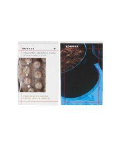 Korres Απολεπιστικό Σαπούνι Μασάζ Κόκκοι φυκιών & Καφεϊνη 125 gr