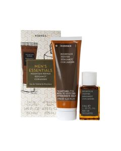 Korres Mountain Pepper Bergamot Coriander Men's Essentials Άρωμα 50 ml & Aftershave 125 ml