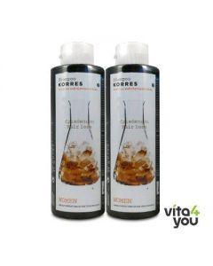 Korres Hair loss Shampoo for Women Cystine & Glycoproteins 250 ml 1+1 Free