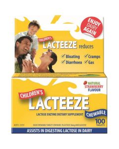 Lacteeze Children's 100 chewable tabs strawberry
