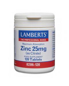 Lamberts Zinc Citrate 25 mg 120 tabs