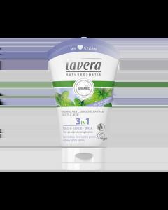 Lavera 3 in 1 Wash Scrub Mask  Organic Mint, Siliceous Earth & Salicylic Acid 125 ml