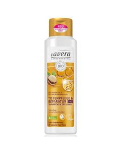 Lavera 2 in 1 Deep care & Repair Shampoo/Conditioner Organic Almond & Macadamia oil very dry damaged hair 250 ml